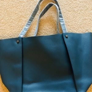 Neiman Marcus tote - Faux leather.  Peacock blue.
